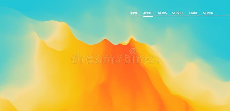 Landende pagina voor website en mobiele app Moderne abstracte stijl Het vector malplaatje van het websiteontwerp stock illustratie