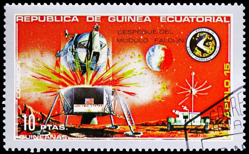 Lander Apollo 15 serie, circa 1972 royaltyfri bild