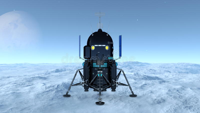 Lander. Image of a space lander royalty free stock photo