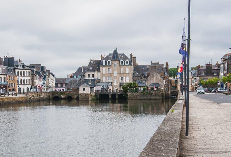 Landerneau del centro in Finistère immagine stock libera da diritti