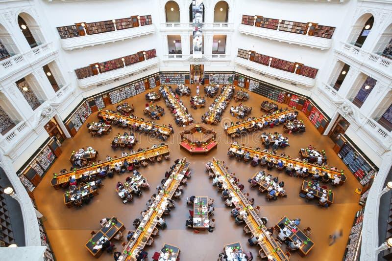 Landesbibliothek von Victoria, Melbourne stockbild