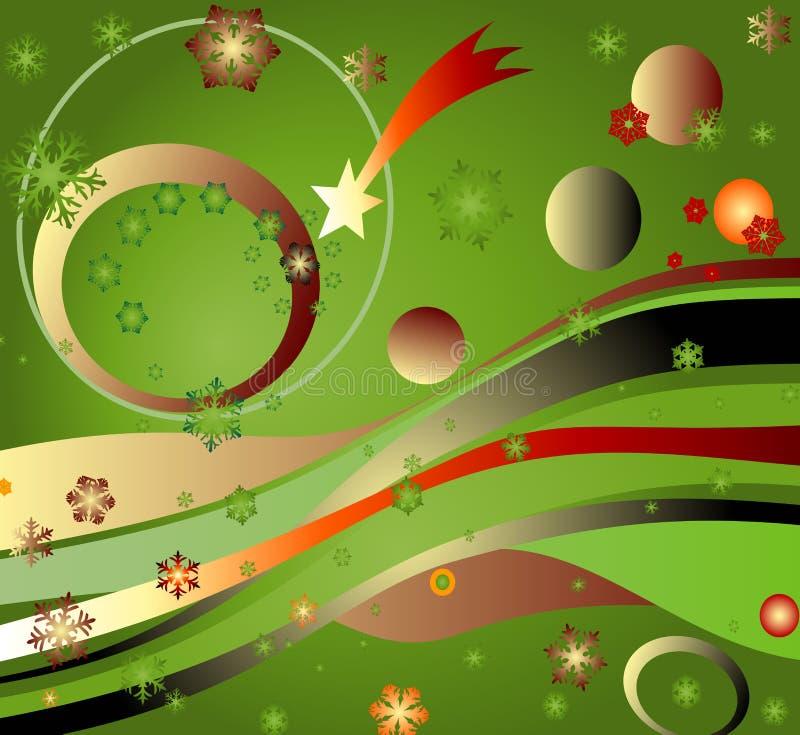 Landescape mágico con el arco iris, los planetas, los strars y el cometa libre illustration