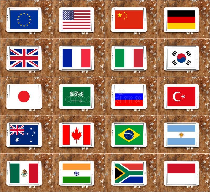 Landesflaggen G20 vektor abbildung