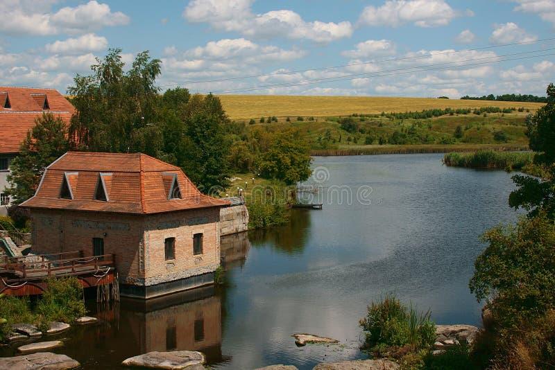 Landet landskap arkivfoto