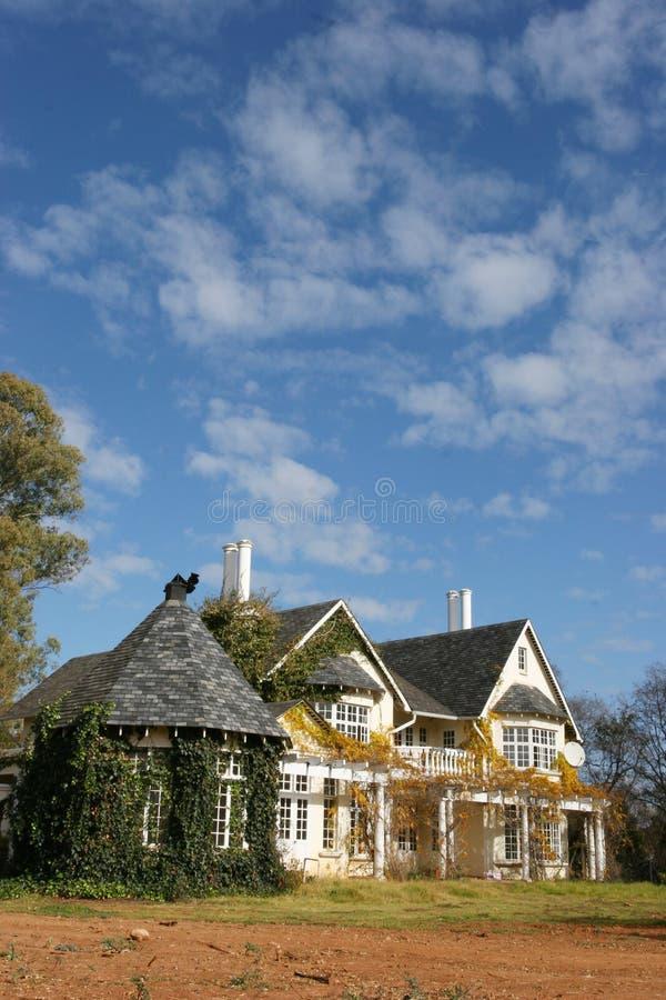 Landet utformar huset royaltyfri bild
