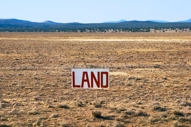 landförsäljning arkivfoton