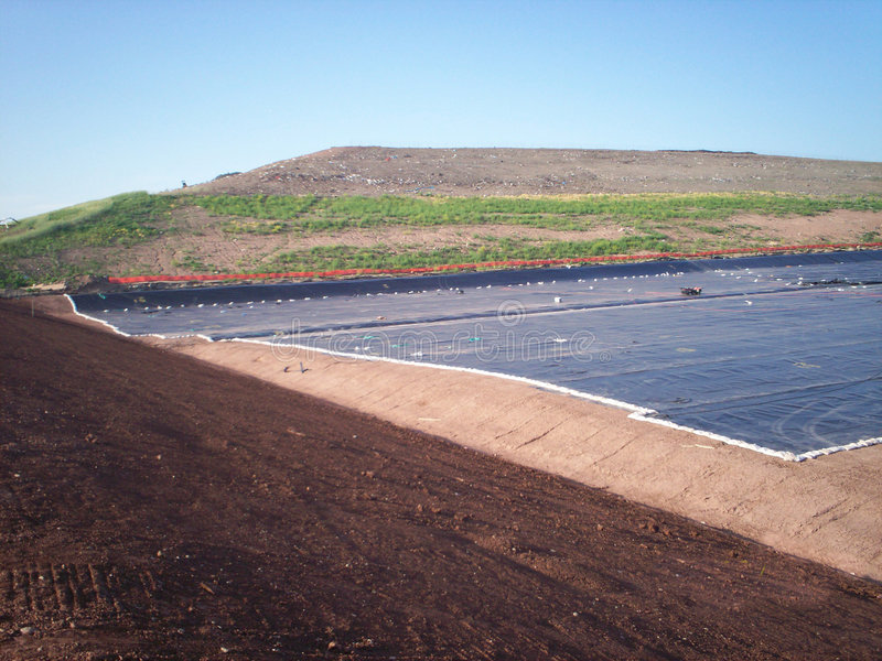 Download Landfill Cell Liner 2 Stock Image - Image: 4118921