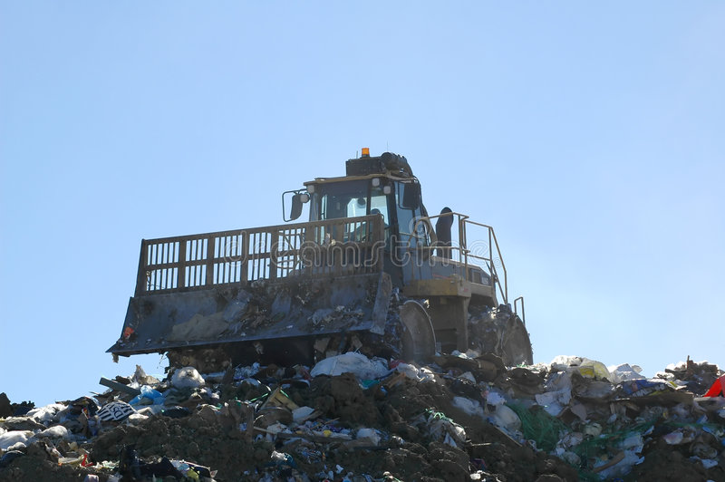 Landfill Compactor Stock Images