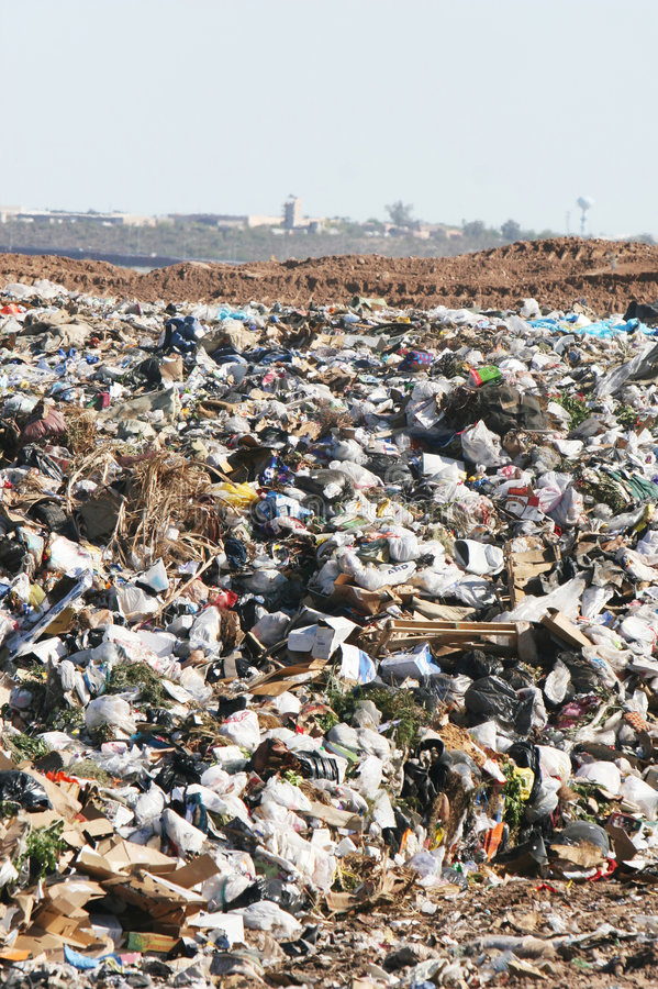 Landfill Trash royalty free stock photo