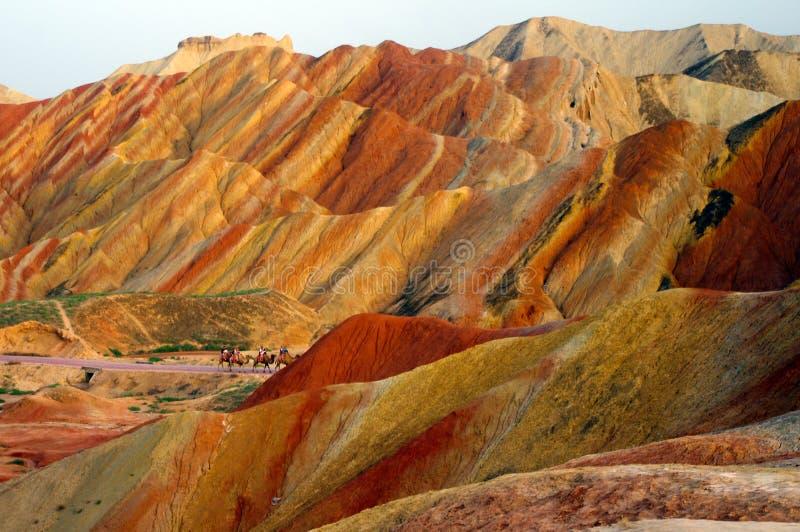 Landform de Danxia Zhangye fotografia de stock