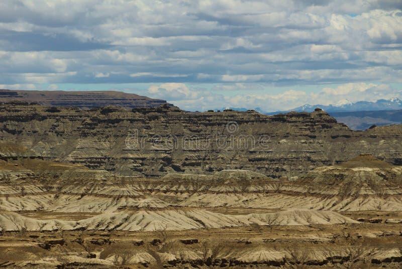Landform di morfologia carsica nel Tibet immagini stock
