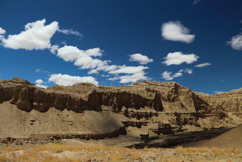 Landform do cársico em Tibet fotografia de stock