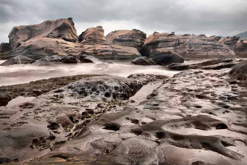 Landform vulcanico, Taiwan fotografie stock