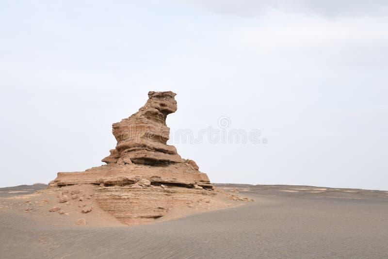 Landform Yardang σε Dunhuang στοκ φωτογραφίες