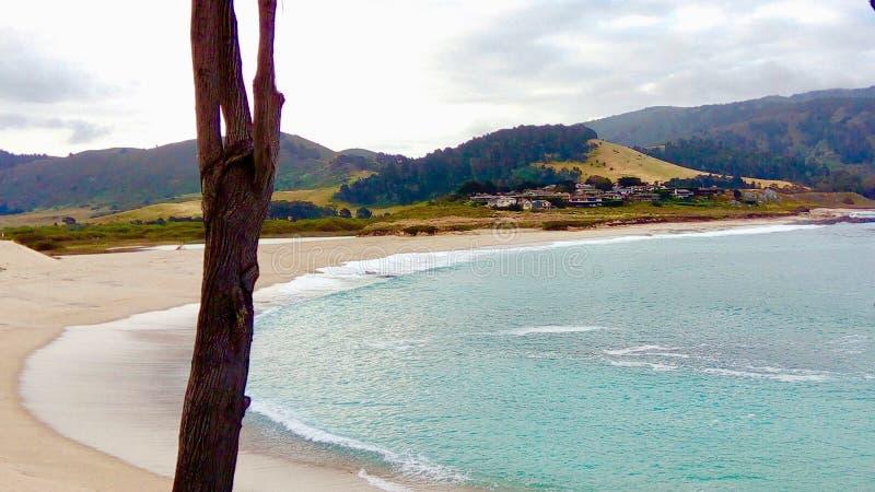 Landforms costieri ed oceanici della costa, della spiaggia, baia fotografia stock libera da diritti