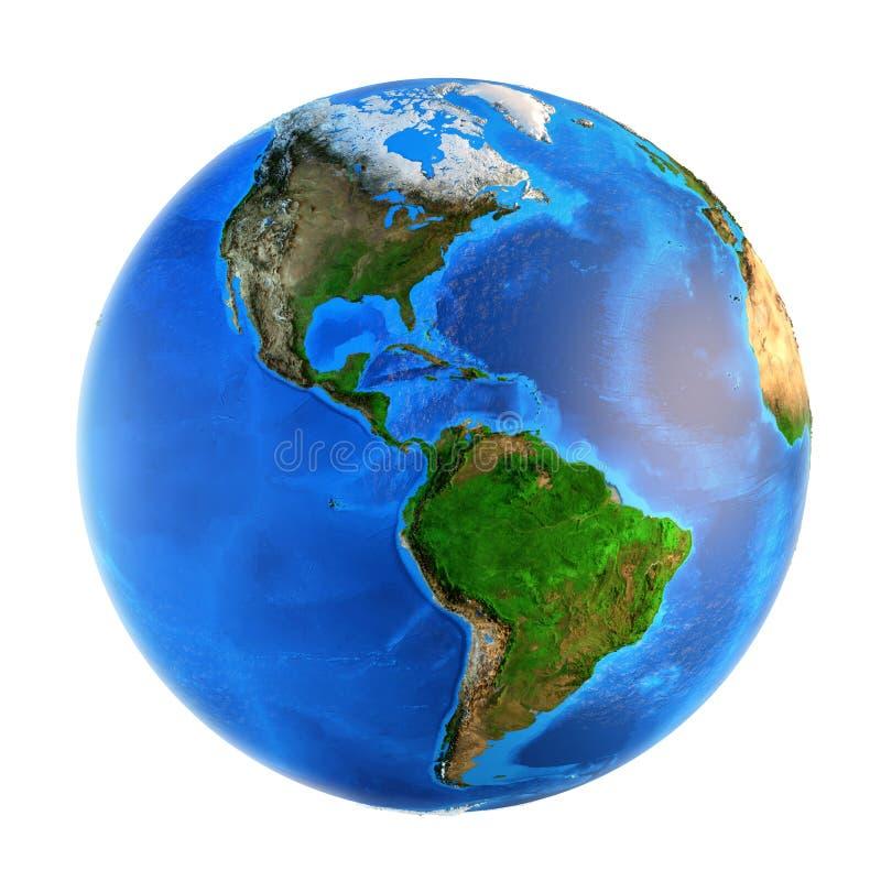 Landforms da terra do planeta foto de stock
