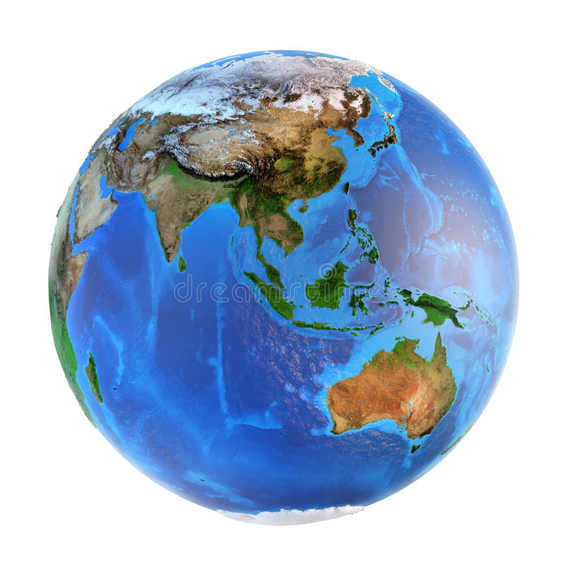Landforms del pianeta Terra fotografie stock libere da diritti