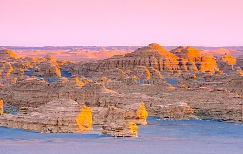 Landforms di YaDan immagini stock