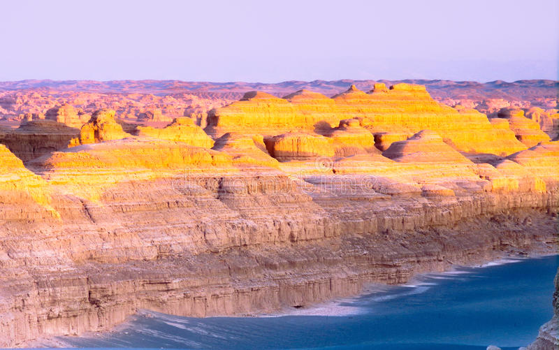Landforms di YaDan immagine stock