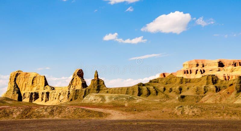 Landforms Yadan - город дьявола в Синьцзян-Уйгурский автономный район стоковое фото rf