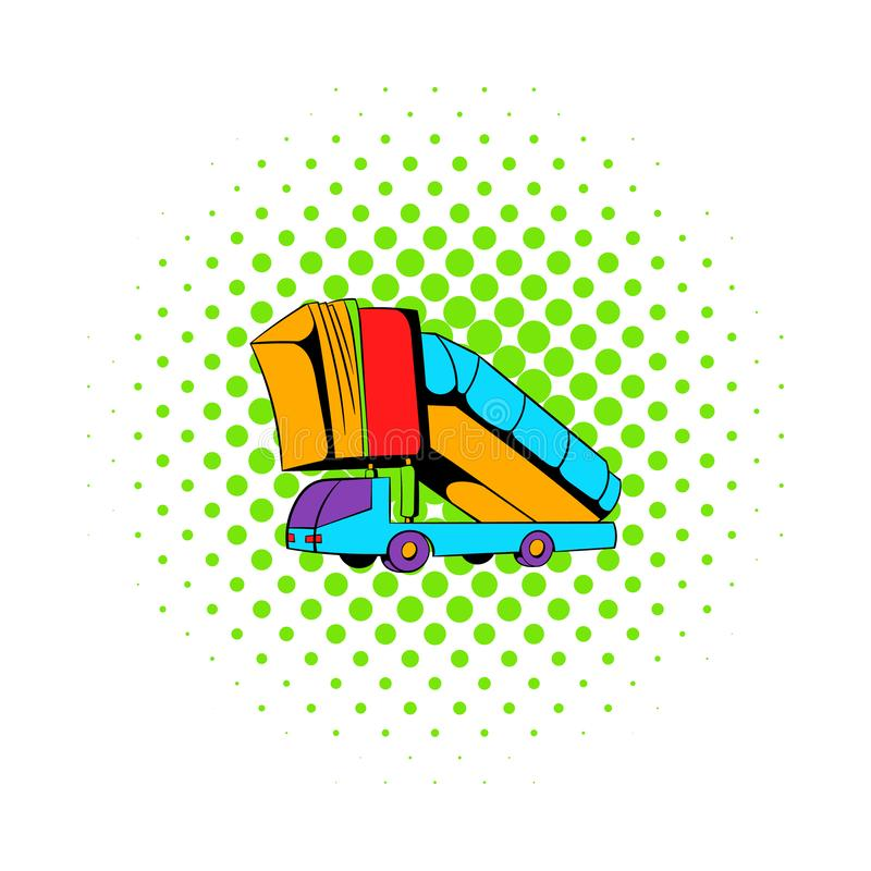 Landgången av den plana symbolen, komiker utformar stock illustrationer