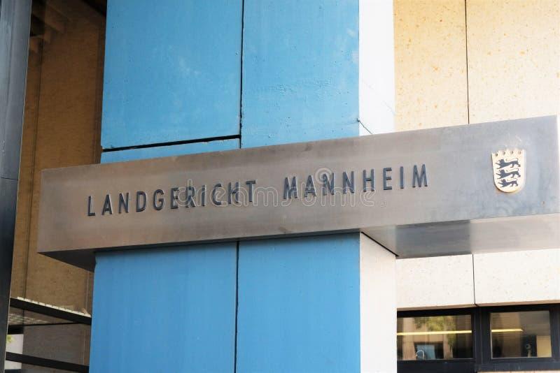 Landgericht Mannheim images libres de droits