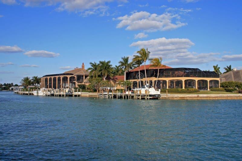 Landgoed op de Golf van Mexico stock afbeelding