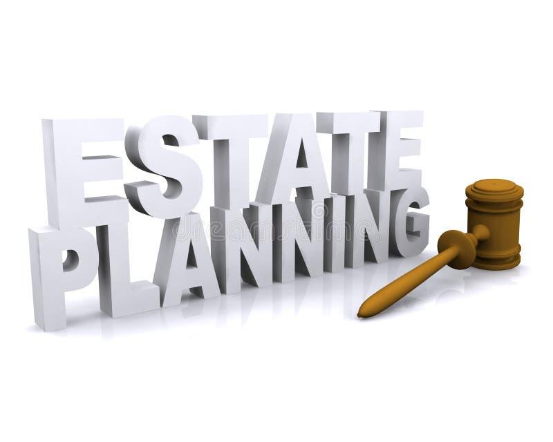Landgoed planning royalty-vrije illustratie