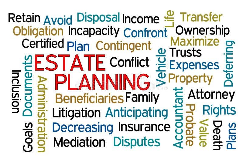 Landgoed Planning vector illustratie