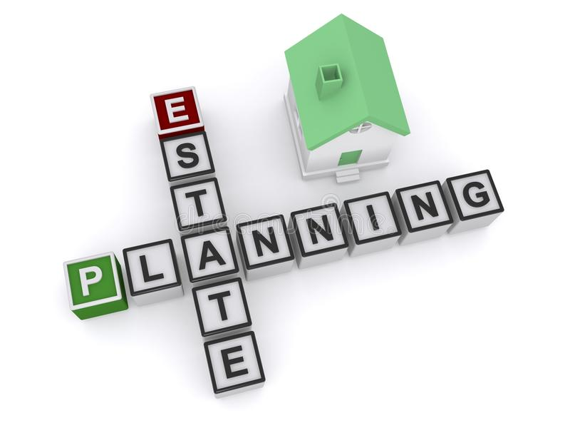 Landgoed Planning stock illustratie