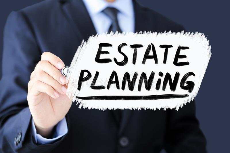 Landgoed Plannings Bedrijfsconcept stock afbeelding