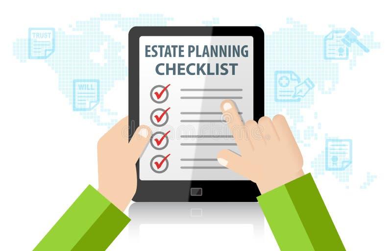 Landgoed Planningscontrolelijst Infographic vector illustratie