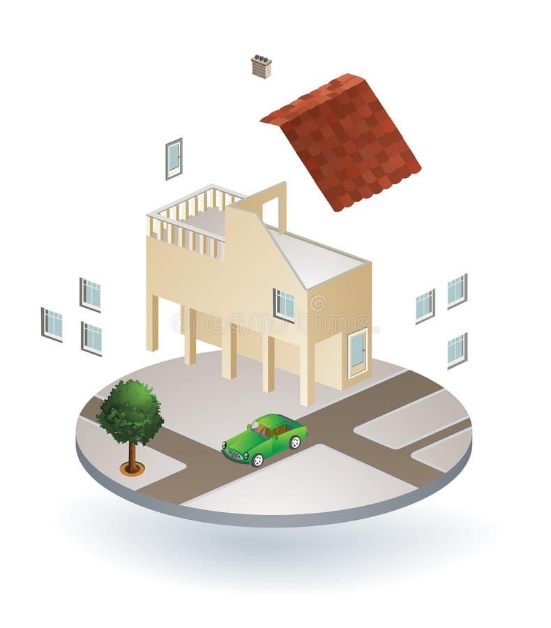 Landhaus lizenzfreie abbildung