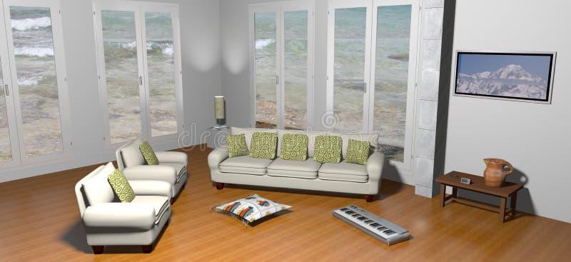 Landhaus auf dem Meer vektor abbildung