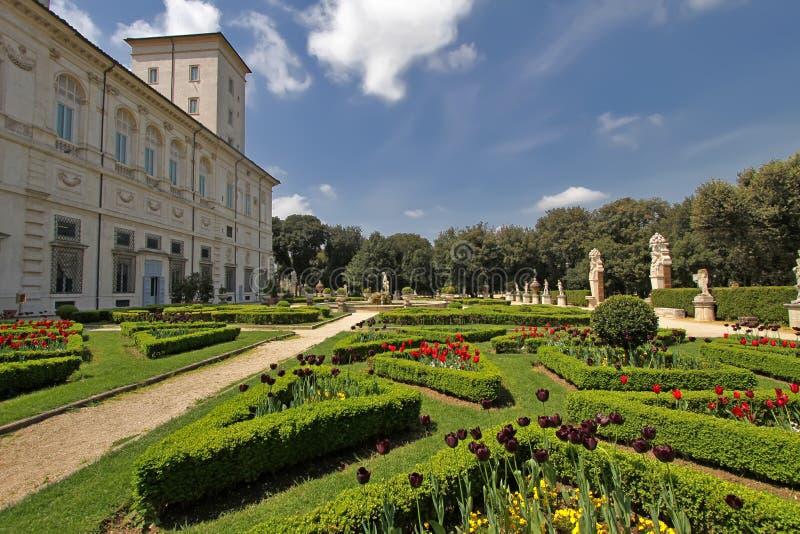 Landhaus Borghese lizenzfreies stockbild