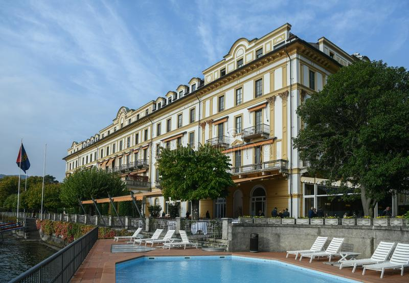 Landhaus D ` Este in Cernobbio, Italien lizenzfreies stockbild
