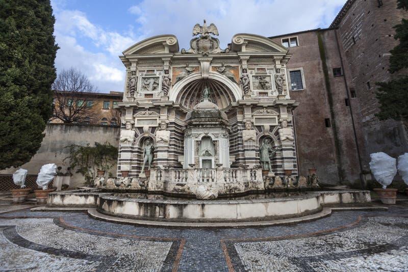 Landhaus D Este, Tivoli des Organ-Brunnen-(Fontana-enges Tal Organo) Italien lizenzfreies stockbild