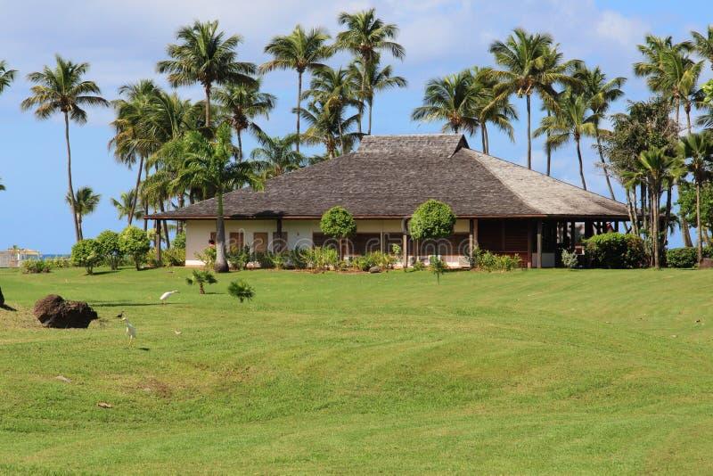 Landhaus des Luxus-Resorts, Guadeloupe stockfoto