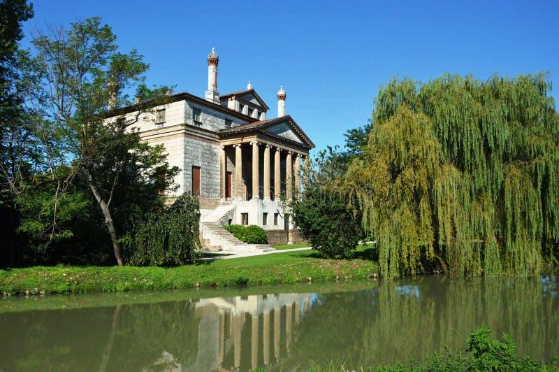 Landhaus Foscari, genannt La Malcontenta, entworfen von Andrea Palladio-Architekten stockbilder