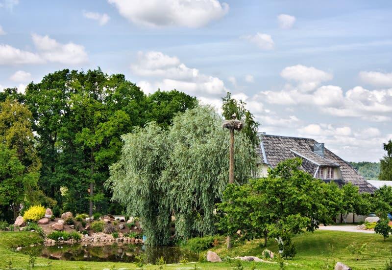 Landhaus, Häuschen lizenzfreies stockbild
