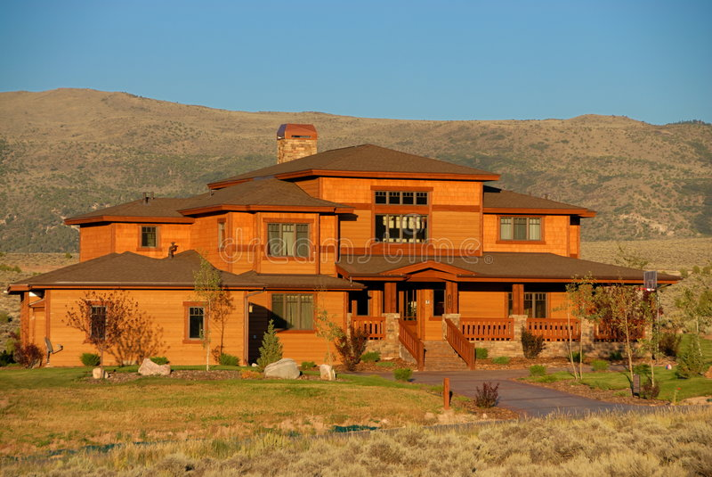 Landhaus in Kolorado stockbild