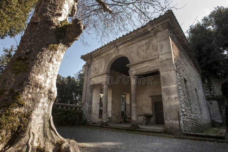 Landhaus Lante bei Bagnaia (Kleinstadt in Italien) stockfotos
