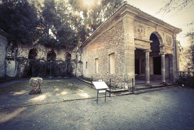 Landhaus Lante bei Bagnaia (Kleinstadt in Italien) lizenzfreies stockbild
