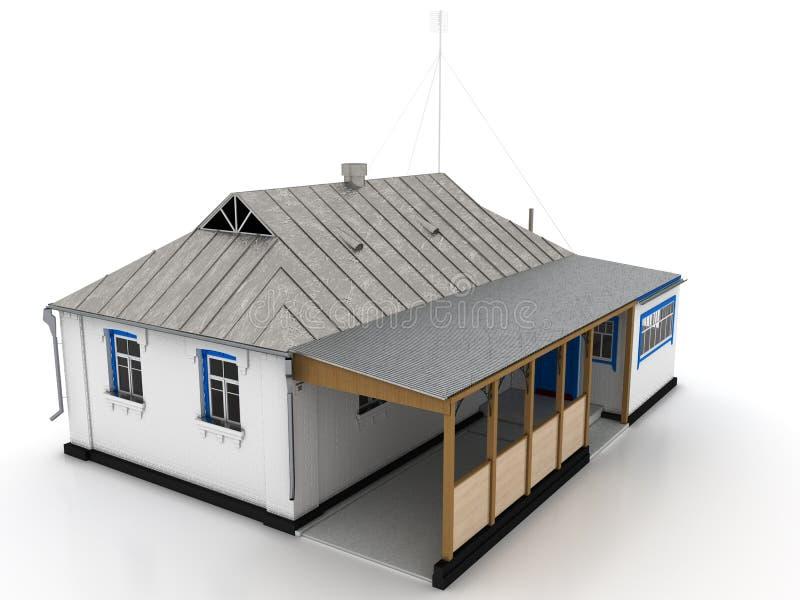 Landhaus mit einem zinndach und einer veranda 2 stock for 3 piani di veranda stagionale