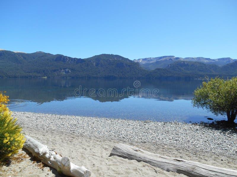 Landhaus Traful-Patagonia Argentinien stockbilder