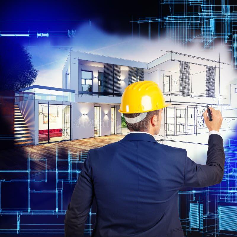Landhausprojektplanung lizenzfreie stockfotografie