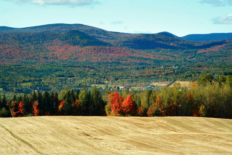 Landherbstlandschaft stockfoto