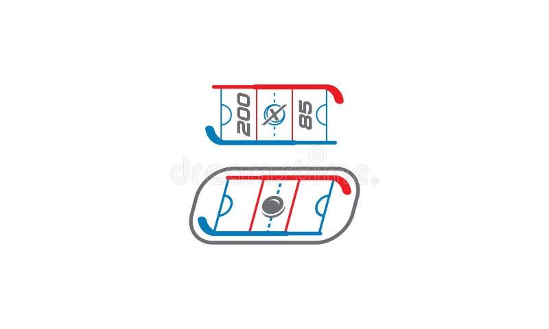 LandhockeyLogo Vector symbol royaltyfri illustrationer
