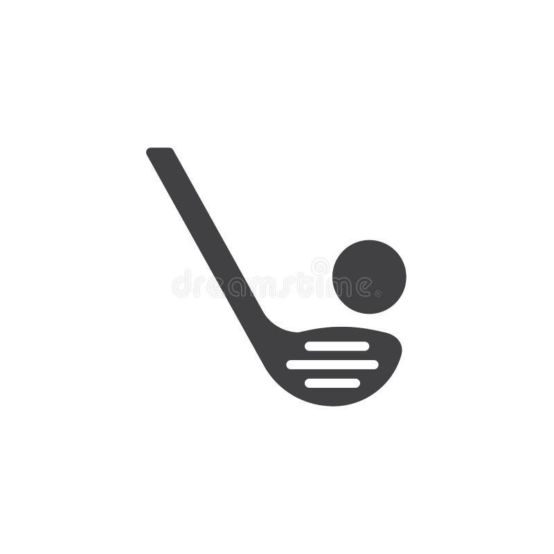 Landhockeyvektorsymbol vektor illustrationer