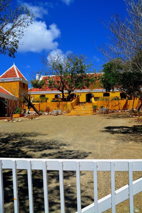 Landhouse in Curacao royalty-vrije stock foto's